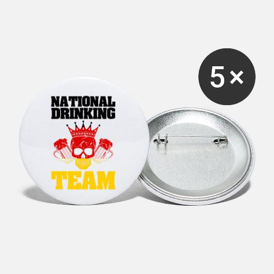 Flag Of Germany Buttons - National Drinking Team Germany - Small Buttons white