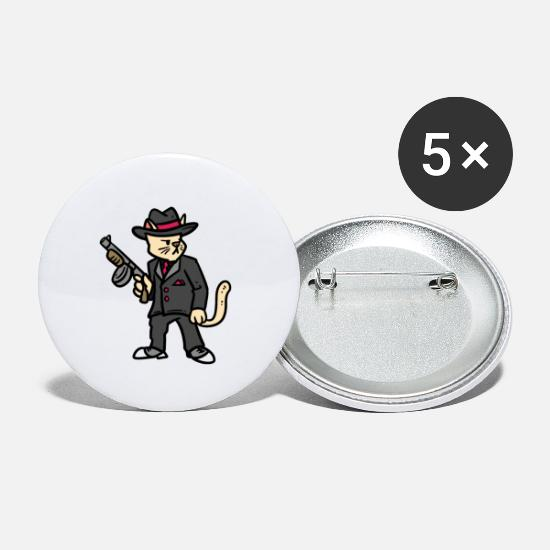 Flint Gun Buttons - Shooting weapon gun gift sport rifle - Small Buttons white