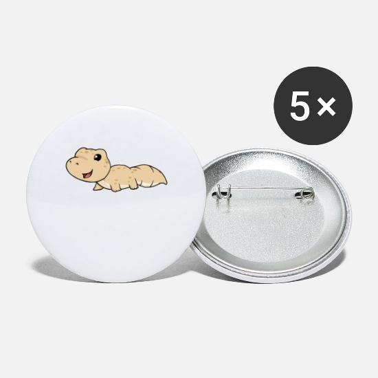 Gift Idea Buttons - Gecko - Small Buttons white