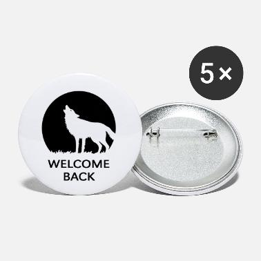 Tierart Welcome Back (Wolf / 1C) - Buttons klein