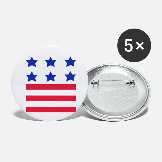 Stars Buttons - Stars and Stripes American Flag - Small Buttons white