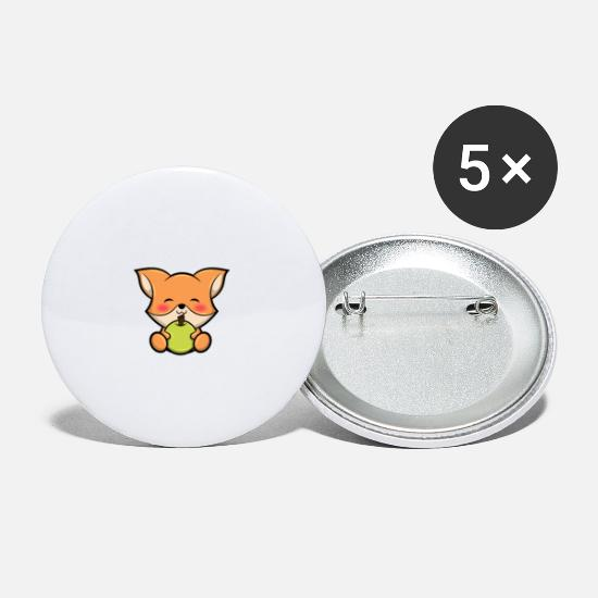 Professor Buttons - Eat Sleep Teach Repeat Sweet Fox Teacher Gift - Small Buttons white