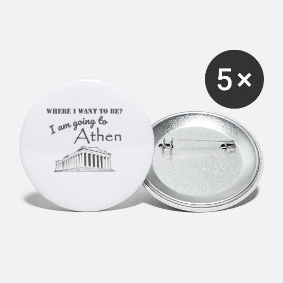 Travel Buttons - Trip to Athens - Small Buttons white