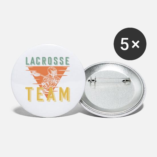Martial Arts Buttons - Lacrosse team - Small Buttons white