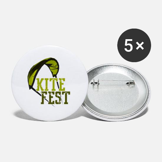 Boarders Buttons - Kite Boarding Edition 5 - Small Buttons white