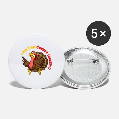 Turkey Turkey turkey turkey turkey turkey chicken gift - Small Buttons