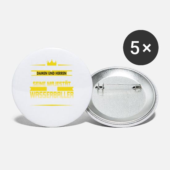 Birthday Buttons - His Majesty the Water Baller enters the room - Small Buttons white