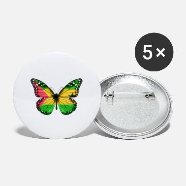 Root Butterfly Flag Of Sao Tome And Principe - Small Buttons