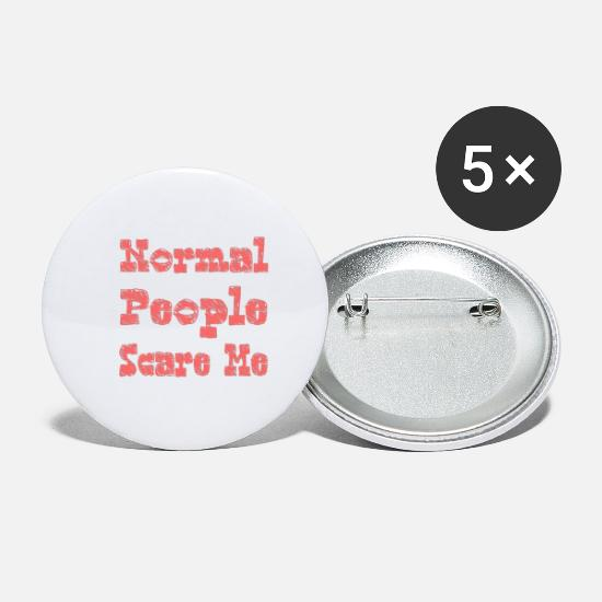 Normal Buttons - Normal people scare me - Small Buttons white