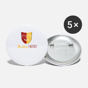Theater nerd - theater mask musical fan design - Small Buttons