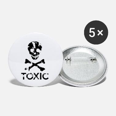 Grungy Grungy Warning Sign – Toxic - Small Buttons