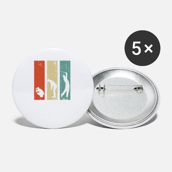 Golf Buttons - Golf Golfer Golf Course Gift Golf Club Funny - Small Buttons white