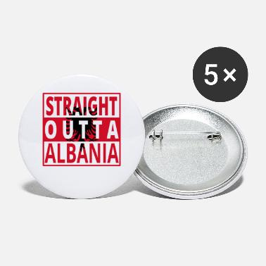 Country Straight outta Albanien Albania - Buttons klein