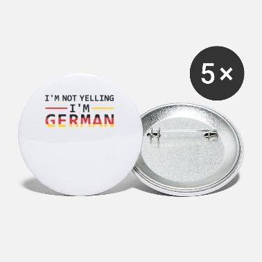 I'm not screaming, I'm German. - Small Buttons