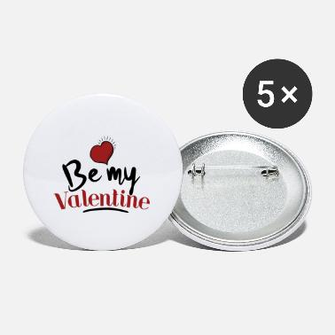 Be My Valentine with heart gift for Valentine's Day - Small Buttons