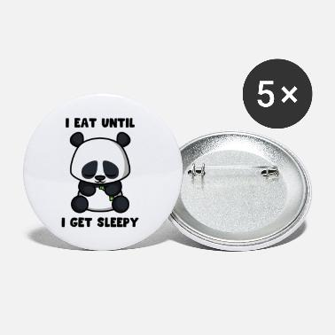Bamboo I Eat Until I'm Tired Panda Funny - Small Buttons