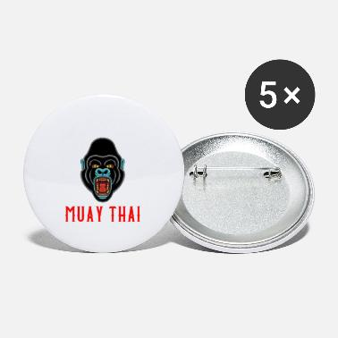 Muay Thai Gorilla - Thai Boxing & Kickboxing Gift - Small Buttons