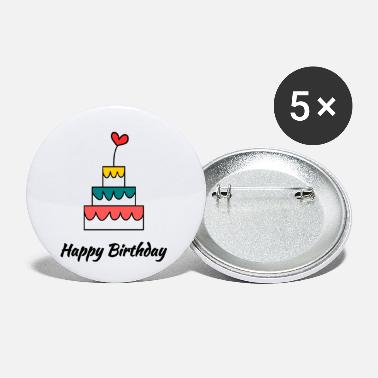 Happy Birthday HAPPY BIRTHDAY. HAPPY BIRTHDAY. ANNIVERSARY. - Small Buttons