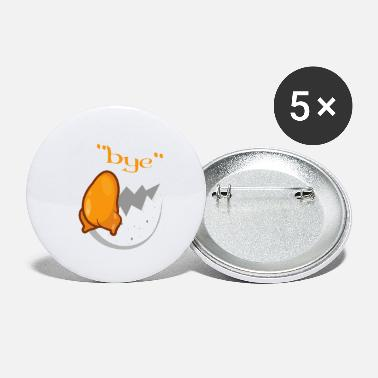 Meme Egg Funny Bye Troubled Funny Person Gift - Small Buttons