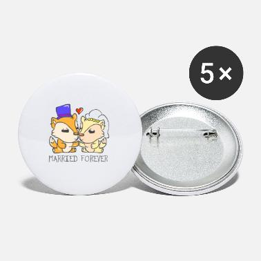 Together Wedding marriage marriage marriage married - Small Buttons