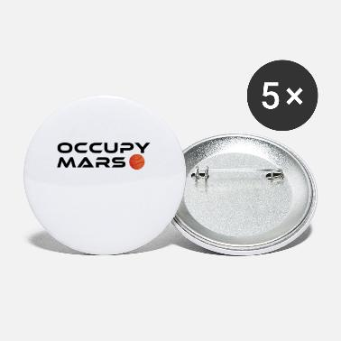Occupy Vintage Space Astronomy Occupy Mars Gift - Buttons klein