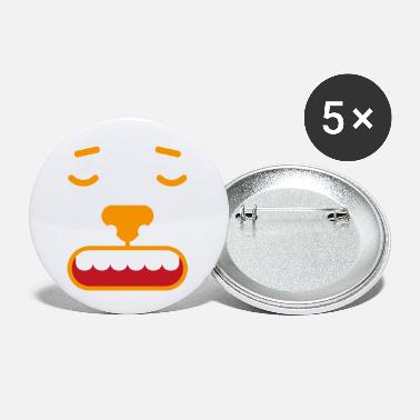 Language Face emotion facial expression feeling gift feeling angry - Small Buttons