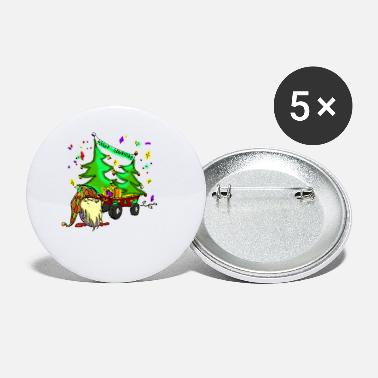Merry Christmas Farm Gnome - Small Buttons