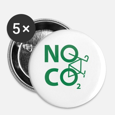 Miljømæssige INGEN CO2 - cyklister og cyklister Design - Buttons/Badges lille, 25 mm