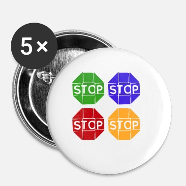 Graphic Art Pop Art / Graphic Novel: STOP - Rintamerkit pienet 25 mm
