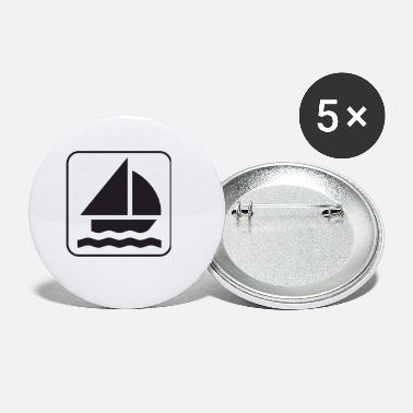paddle boat sail boat rowboat sailboat29 - Small Buttons
