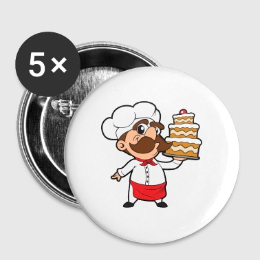 Cake baker bakery baking - Buttons small 25 mm