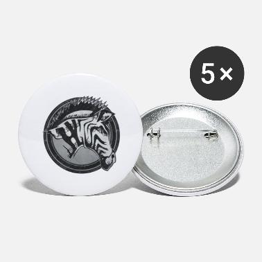 Wild Zebra Grunge Animal - Small Buttons