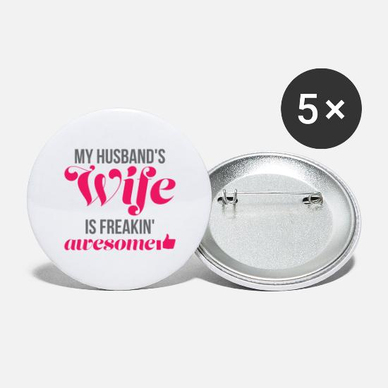 Gift Idea Buttons - Funny gift for the husband - Small Buttons white