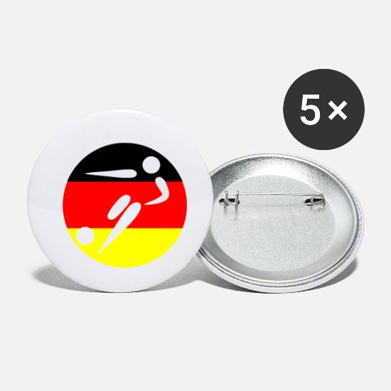 Germania Bottoni & Spille - Germania Soccer Soccer - Spille piccole bianco