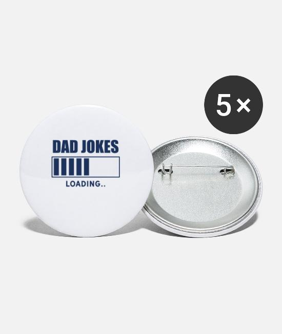 Dad Buttons - Invites Dad Joke - Small Buttons white