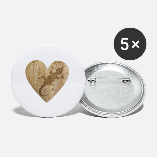Heart Buttons - Love - Gecko - Small Buttons white