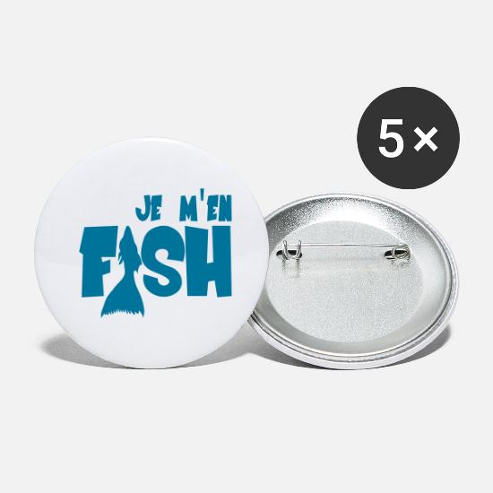 Fish Bebe Badges - Fish - Petits badges blanc