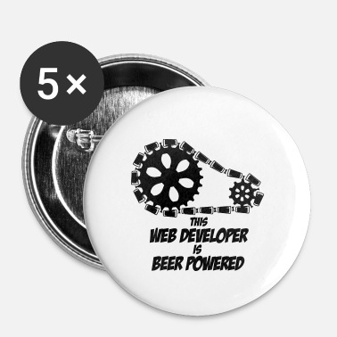 Web BEER WEB DEVELOPER WEB DESIGNER GIFTS SHIRT - Buttons/Badges lille, 25 mm