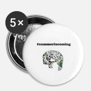 Kraft AKE isbjørn blomster #summeriscoming gave ide - Buttons/Badges lille, 25 mm