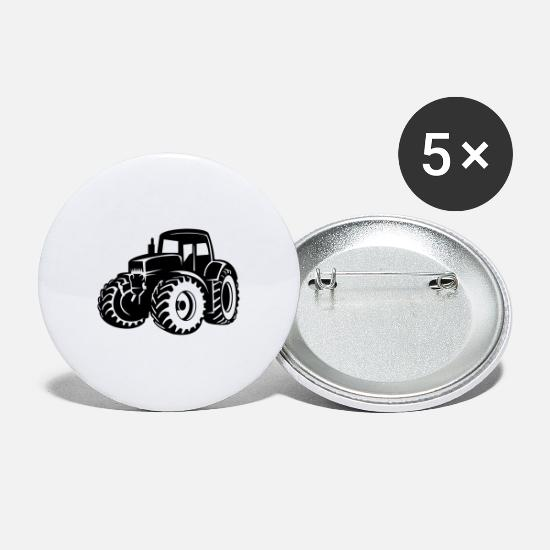 Country Buttons - tractor - Small Buttons white