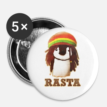Rasta Rasta Pingouin - Badge petit 25 mm