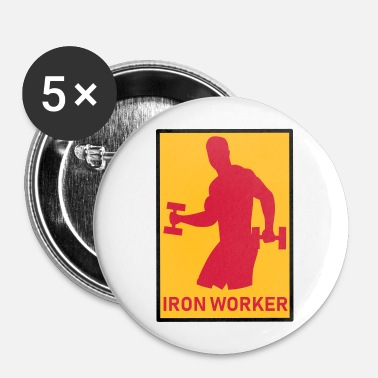 Worker Iron Worker - FITNESS - Spilla piccola 25 mm