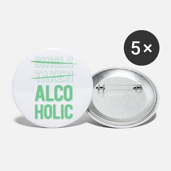 Alcohol Buttons - Alcoholic - Small Buttons white
