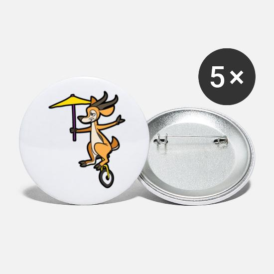 Gift Idea Buttons - unicycle - Small Buttons white