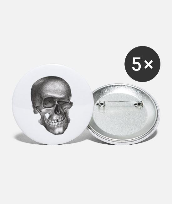 Twinkle Skull Buttons - Twinkle Skull - Small Buttons white
