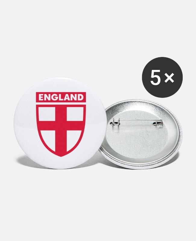 St Buttons - englandlapel1 - Small Buttons white