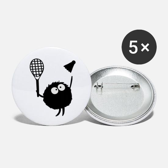 Game Buttons - Badminton Players cc2 - Small Buttons white