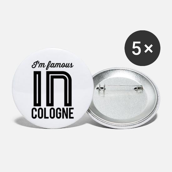 Carneval Buttons - At the famous in cologne - Small Buttons white