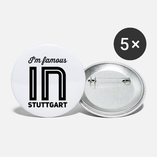 Swabia Buttons - Im famous in stuttgart - Small Buttons white