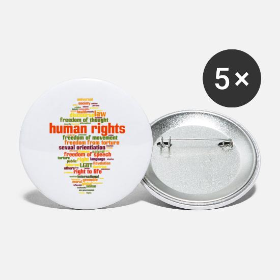 Usa Buttons & Anstecker - human rights - Buttons klein Weiß